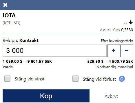 Köp IOTA kontrakt