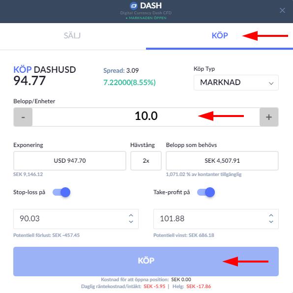 Dash order Skilling