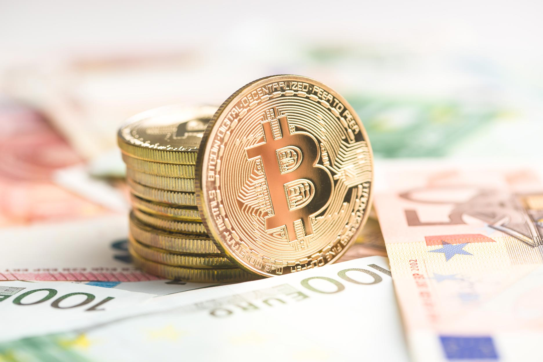 bitcoin mynt med fiat-valuta